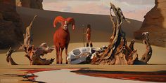 This is an Image from live stream session/interview from while back. Here is link with the process. I assumed that nobody wants to hear me mumbling on russian so I sped up the video a little bit and added some music. Hope it would be useful for. Desert Art, Scenery Wallpaper, Matte Painting, Environmental Art, Fantasy Artwork, Creature Design, Art World, Concept Art, Art Photography