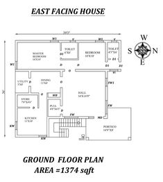 Autocad Drawing file shows 2bhk House Plan, Simple House Plans, Model House Plan, House Layout Plans, Dream House Plans, 30x40 House Plans, Three Bedroom House Plan, Duplex Floor Plans, Bungalow Floor Plans