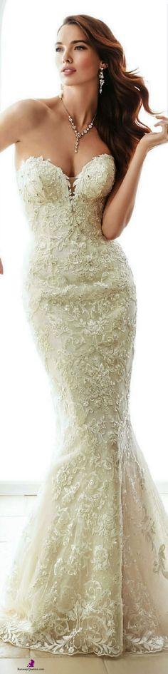 Sophia Tolli, Fashion 2017, creamy white