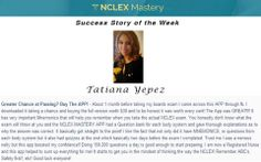 Tatiana Yepez is our #NCLEX Mastery Success Story of the Week. Congratulations on passing your NCLEX, and becoming a #nurse. We're glad we could help play a part in you achieving your dreams. If you want to know how Cheryl passed or need help on your NCLEX studies visit: www.nclexmastery.com