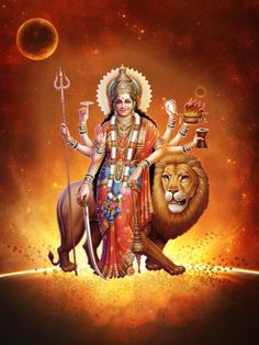'Adi Shakti' achtereen dé Volle Maan Mantra in juni t/m aug 2019 Lord Durga, Durga Ji, Durga Goddess, Lord Vishnu, Maa Wallpaper, Images Wallpaper, Wallpapers, Maa Pic, Navratri Wallpaper