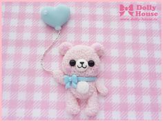 Cuty Bear With Balloon brooch by Dolly House by SweetDollyHouse
