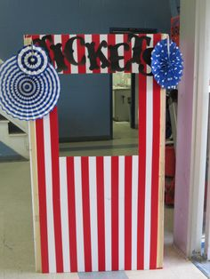Ticket Booth - Framing Lumber, Foam Board and Red Duck Tape