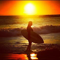 Skimboarding at sunset - Cali SkimChick Alexandra Badie!  #skimchicks