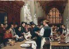 Adrien Emmanuel Marie - La distribution aux pauvres des restes du banquet du Lord Maire