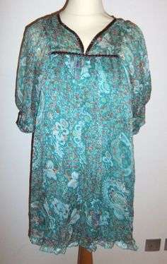 MILLOU LADIES GREEN PAISLEY PATTERNED DRESS-UK 8-USED-EXCELLENT CONDITION-CHIC