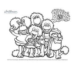 fragle rock coloring pages - photo#20