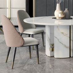 Luxury Italian Designer Contemporary Round Marble Dining Table Set – Juliettes Interiors – Food for Healty Luxury Dining Tables, Luxury Dining Room, Leather Dining Chairs, Dining Table Chairs, Luxury Chairs, Upholstered Dining Chairs, Room Chairs, Marble Dining Table Set, Dining Table Design