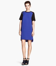 H&M Crêpe Dress $34.95  Love this shade of blue