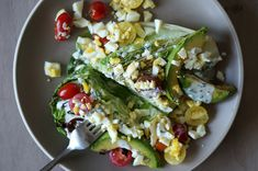 Grilled Romaine Salad with Homemade Ranch