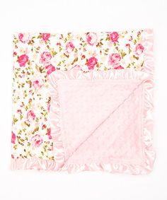 Another great find on #zulily! 32'' x 32'' Pink Floral Stroller Blanket by Tutu AND Lulu #zulilyfinds