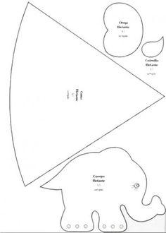 molde cono y elefante.jpg (428×600)
