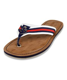 Take a look at this Navy Anchor Gulf Breeze Flip-Flop on zulily today! Go Navy, Navy Mom, Nautical Fashion, Blue Fashion, Blue Boat Shoes, Camo Outfits, Preppy Outfits, Cute Flip Flops, Gulf Breeze