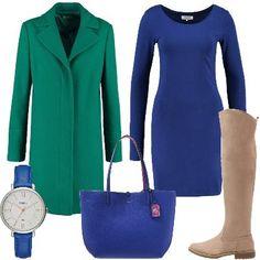 Outfit Il verde sul blue