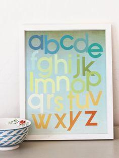 mod citrus alphabet poster