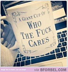 A Cup For The People Who Couldn't Be Bothered…