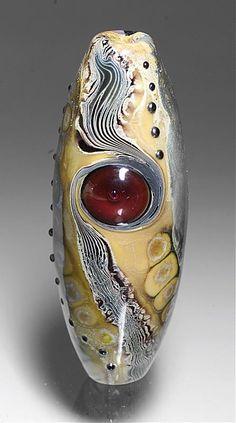 Michael Barley lampwork focal bead.