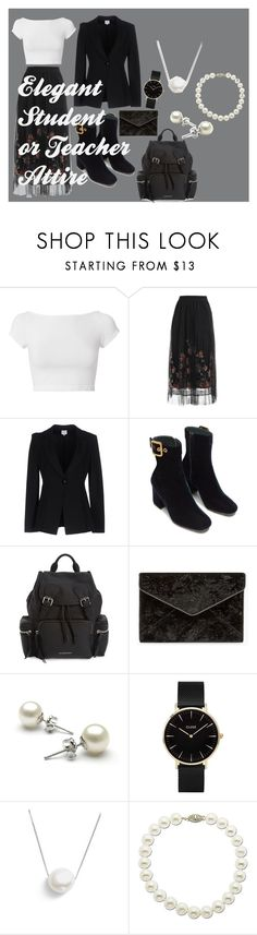 """""""Elegant Student/Teacher Attire"""" by maelishaquinnjuanillo on Polyvore featuring Helmut Lang, Armani Collezioni, Burberry, Rebecca Minkoff, CLUSE, Chan Luu and Lord & Taylor"""