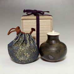 Chaire - Modern Japanese Pottery Tea Caddy #1956 - ChanoYu online shopping