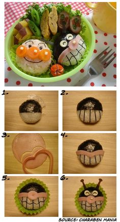 Create a cute Anpanman bento to enjoy during this week. It is easy and very healthy. You are going to enjoy it! Cute Bento Boxes, Bento Box Lunch, Lunch Snacks, Birthday Menu, Onigirazu, Japanese Bento Box, Party Dishes, Xmas Food, Cute Food