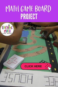 THE BEST End of Year game board project! It is interactive, fun, and engaging! Students create and play their math game in your classroom. The is a math activity that I end every school year with. Your kids will love it too! Perfect for grades 5, 6, 7, 8. Download the math project today! 7th Grade Classroom, 7th Grade Math, Math Board Games, Math Games, End Of Year Activities, Math Activities, Math Lesson Plans, Math Lessons, Math Projects