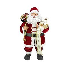 """32"""" Standing Jolly Santa Claus Christmas Figure with Presents and Nice List. #SantaClaus #Santa #Claus #Christmas  #Figurine #Decor #Gift #gosstudio .★ We recommend Gift Shop: http://www.zazzle.com/vintagestylestudio ★"""