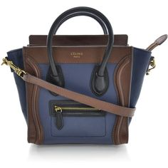 Fashionphile - CELINE Smooth Leather Tricolor Nano Luggage ❤ liked on Polyvore