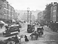 1902 Patrick Street, Cork, Ireland Vintage Photograph x Reprint Images Of Ireland, Cork City, Digital Archives, Born To Run, Back In Time, Ireland Travel, Vintage Photographs, Vintage Photos, Large Prints