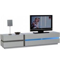 meuble tv hifi cosmos 2 portes 2 niches blancsanremo chez mobistoxx meubles tv pinterest cosmos and tvs - Meuble Tv Living Blanc Laque For You