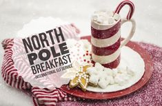 The North Pole Breakfast is a lovely family tradition for children on Christmas Morning. If you have an Elf, they may prepare it for you as a surprise. Christmas Popcorn, Christmas Crackers, Christmas Gingerbread, Christmas Elf, All Things Christmas, Chocolate Snowballs, Hot Chocolate Mix, Chocolate Coating, Giant Lollipops