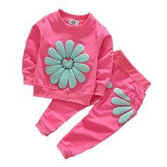 $9.75 (Buy here: https://alitems.com/g/1e8d114494ebda23ff8b16525dc3e8/?i=5&ulp=https%3A%2F%2Fwww.aliexpress.com%2Fitem%2FGirls-Clothing-Sets-Summer-2016-New-Kids-Clothes-Girls-Sunflower-Print-Outfits-t-shirt-pants-2pcs%2F32681409957.html ) Girls Clothing Sets Summer 2017 New Kids Clothes Girls Sunflower Print Outfits t-shirt+pants 2pcs suit Children Clothing Sets for just $9.75