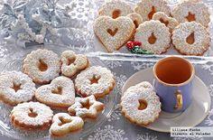 Receta de galletas Spitzbuben suizas navideñas. Con fotografías paso a paso, consejos y sugerencias de degustación. Recetas de postres. Recetas...