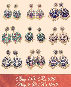 Buy Meenakari Chandbali Earrings this Festive Season!! #earring #earrings #chandbali #pearls #meenakari #kundan #offer #sale #ethnic #eid #ramzan #ramdan #muslim #islam #designer #purelylush #delhi #banglore #hyderabad #picoftheday #f2f #followforfollow #like4like #fashiongram