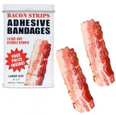 Bacon BandAids - gag gift for Jon