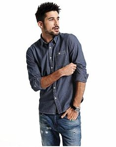 c2d482848ff Striped Long Sleeve Slim Fit Casual Shirt
