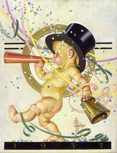 """New Year's Baby 1937,"" by J.C. Leyendecker"