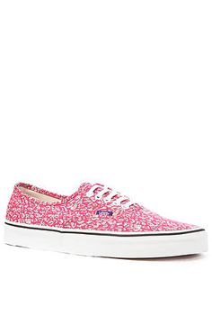 Vans x Liberty of London Authentic Sneaker in Leaves & Pink on sale $40