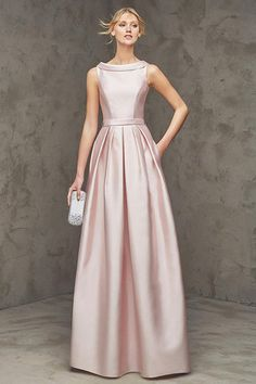 V Neck Halter Gown with Sash Style VW360214   Bridesmaid dress