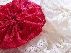 Yo-Yo Fabric Crafts | Lace Fabric HandMade 2-1/2 inch YOYO | Yo Yo Crafts