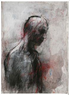 Christophe Hohler - Buscar con Google Unique Drawings, Art Drawings, Figure Painting, Figure Drawing, Modern Art, Contemporary Art, Dark Artwork, Expressive Art, Dope Art