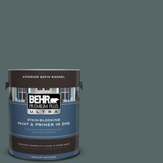 BEHR Premium Plus Ultra 1-gal. #N440-6 Brooklyn Satin Enamel Exterior Paint
