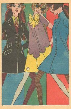 60s fashion illustration