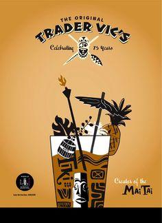 The Original Trader Vic's Vintage Tiki, Vintage Hawaiian, Tiki Art, Tiki Tiki, Kona Kai, Tiki Hawaii, Bamboo Bar, Tiki Decor, Tiki Lounge