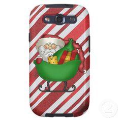 Christmas Santa cartoon Samsung Galaxys3 Vibe case Samsung Galaxy S3 Cases