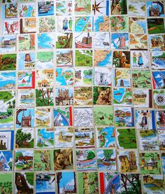Patchwork made from vintage teatowel - this is going to be amazing! modflowers: quilt commission