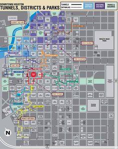 Downtown Houston Map |  Houston Downtown Map  | Houston Map