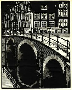 Amsterdam, Corner Keizersgracht - Reguliersgracht, 1939 by Jan Boon on Curiator, the world's biggest collaborative art collection. Amsterdam, Linoprint, Film D'animation, Winter Painting, Dutch Painters, Collaborative Art, Encaustic Painting, Wood Engraving, Linocut Prints