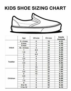Seed Children S Shoe Sizes