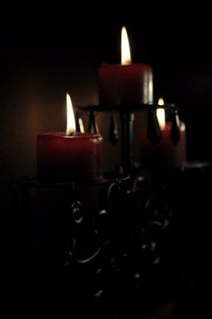 The Serpent's Path: Sigil Magick Chandelier Bougie, Chandeliers, Castlevania Dracula, Memes Arte, Arte Obscura, Candle Magic, Gothic House, Candle Lanterns, Red Candles