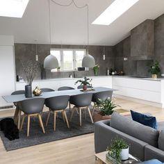 Interior Living Room Design Trends for 2019 - Interior Design Living Room Kitchen, Kitchen Interior, Interior Design Living Room, Living Room Decor, Gray Interior, Küchen Design, Dining Room Design, Interior Inspiration, Home Kitchens